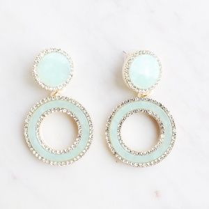 Blue Statement Hoops